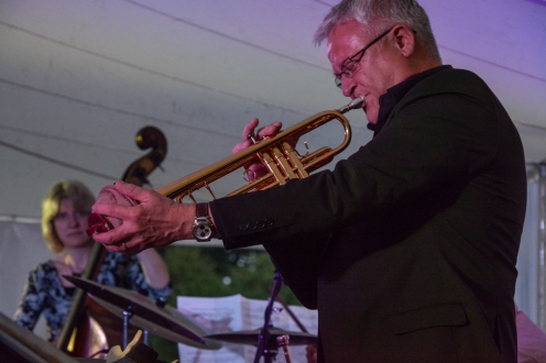 Mike Lovatt performing at Fleet Jazz Club/Winchfield Festival event