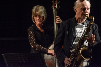 Mornington Lockett & Marianne Windham performing at Fleet Jazz (Nov 16). Image courtesy of David Fisher (Aldershot, Farnham & Fleet Camera Club).