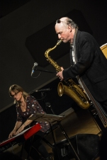 Andrea Vicari & Mornington Lockett performing at Fleet Jazz (Nov 16). Image courtesy of David Fisher (Aldershot, Farnham & Fleet Camera Club).
