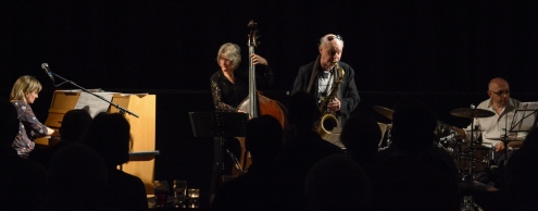 Andrea Vicari, Mornington Lockett, Eric Ford & Marianne Windham performing at Fleet Jazz (Nov 16). Image courtesy of David Fisher (Aldershot, Farnham & Fleet Camera Club).
