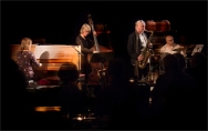 Andrea Vicari, Mornington Lockett, Eric Ford & Marianne Windham performing at Fleet Jazz (Nov 16). Image courtesy of Michael Carrington (Aldershot, Farnham & Fleet Camera Club).