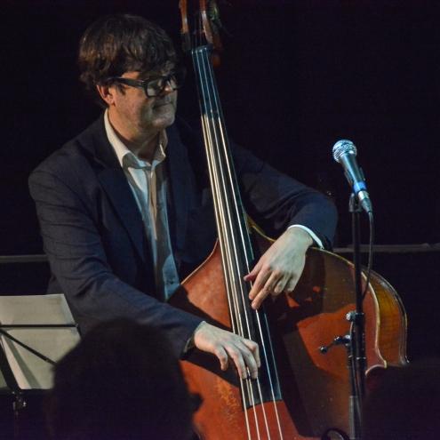 Andrew Cleyndert performing at Fleet Jazz. Photograph courtesy of Pat Gibson (Aldershot, Farnham & Fleet Camera Club).