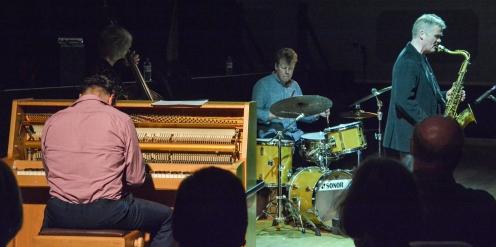 Gareth Williams and Martin France at Fleet Jazz on 21st March 2017. Photograph courtesy of David Fisher (Aldershot, Farnham & Fleet Camera Club)