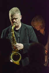 Iain Ballamy at Fleet Jazz on 21st February 2017. Photograph courtesy of David Fisher (Aldershot, Farnham & Fleet Camera Club)
