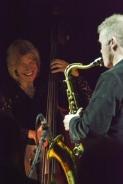 Iain Ballamy and Marianne Windham at Fleet Jazz on 21st February 2017. Photograph courtesy of David Fisher (Aldershot, Farnham & Fleet Camera Club)