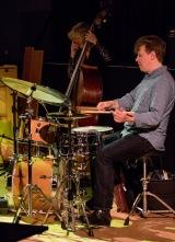Martin France at Fleet Jazz on 21st March 2017. Photograph courtesy of Michael Carrington (Aldershot, Farnham & Fleet Camera Club)