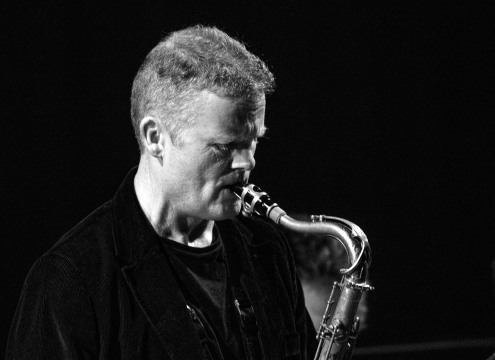 Iain Ballamy at Fleet Jazz on 21st March 2017. Photograph courtesy of Michael Carrington (Aldershot, Farnham & Fleet Camera Club)