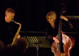Iain Ballamy and Marianne Windham at Fleet Jazz on 21st March 2017. Photograph courtesy of Michael Carrington (Aldershot, Farnham & Fleet Camera Club)