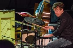 Martin France performing at Fleet Jazz on 18th April 2017. Photograph courtesy of David Fisher (Aldershot, Farnham & Fleet Camera Club)