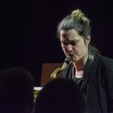 Trish Clowes performing at Fleet Jazz on 18th April 2017. Photograph courtesy of David Fisher (Aldershot, Farnham & Fleet Camera Club)