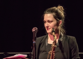 Trish Clowes performing at Fleet Jazz on 18th April 2017.