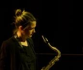 Trish Clowes performing at Fleet Jazz on 18th April 2017. Photograph courtesy of Michael Carrington (Aldershot, Farnham & Fleet Camera Club)