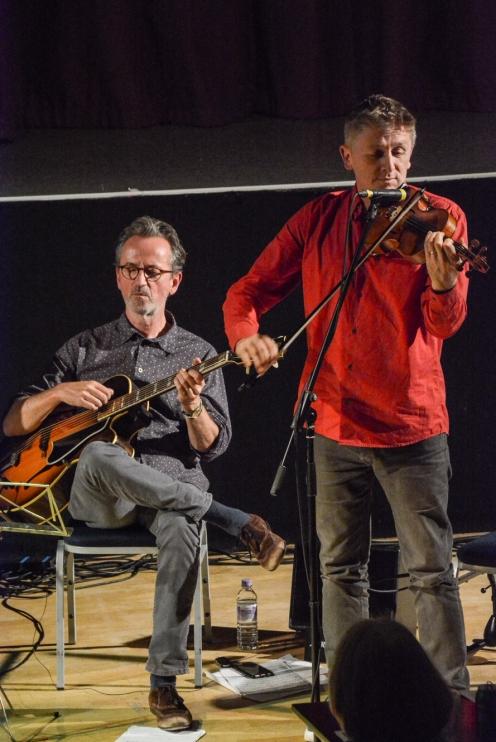"Christian Garrick (Violin) & Dave Kelbie (Guitar) John Etheridge ""Sweet Chorus"" performing at Fleet Jazz Club on 17th October 2017."