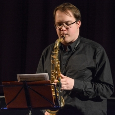 Tom Ridout performing at Fleet Jazz Club. Photograph courtesy of David Fisher (Aldershot, Farnham and Fleet Camera Club)