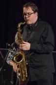 Tom Ridout performing at Fleet Jazz Club. Photograph courtesy of David Fisher (Aldershot, Farnham and Fleet Camera Club)