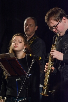 the Ridouts at Fleet Jazz Club on 15 Nov 2017. Photograph courtesy of David Fisher (Aldershot, Farnham and Fleet Camera Club)