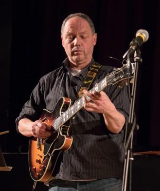 Mark Ridout performing at Fleet Jazz Club. Photograph courtesy of Michael Carrington (Aldershot, Farnham & Fleet Camera Club)