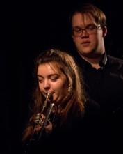 Alex and Tom Ridout at Fleet Jazz Club on 15 Nov 2017. Photograph courtesy of Michael Carrington (Aldershot, Farnham and Fleet Camera Club)