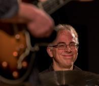 Tristan Mailliot performing with the Ridouts at Fleet Jazz Club on 15 Nov 2017. Photograph courtesy of Michael Carrington (Aldershot, Farnham and Fleet Camera Club)