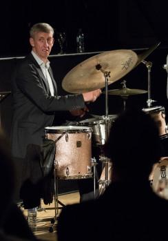 Steve Brown at Fleet Jazz Club. Photograph courtesy of Michael Carrington (Aldershot, Farnham & Fleet Camera Club). — at The Harlington, Fleet.