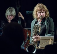 Karen Sharp at Fleet Jazz Club. Photograph courtesy of Michael Carrington (Aldershot, Farnham & Fleet Camera Club). — at The Harlington, Fleet.