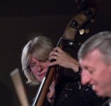 Marianne Windham and Steve Brown performing with the Karen Sharp Quartet at Fleet Jazz Club. Photograph courtesy of Michael Carrington (Aldershot, Farnham & Fleet Camera Club) at The Harlington, Fleet.