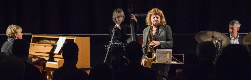 The Karen Sharp Quartet at Fleet Jazz Club. Photograph courtesy of David Fisher (Aldershot, Farnham & Fleet Camera Club).