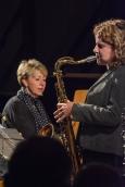 Nikki Iles and Karen Sharp performing at Fleet Jazz Club. Photograph courtesy of David Fisher (Aldershot, Farnham & Fleet Camera Club).