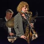 Steve Brown with Karen Sharp at Fleet Jazz Club. Photograph courtesy of David Fisher (Aldershot, Farnham & Fleet Camera Club).