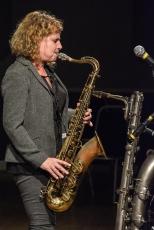 Karen Sharp performing at Fleet Jazz Club. Photograph courtesy of David Fisher (Aldershot, Farnham & Fleet Camera Club).
