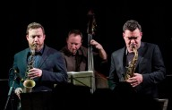 Brandon Allen All-Stars Sextet performing at Fleet Jazz Club on 5/12/17. Photograph courtesy of Michael Carrington (Aldershot, Farnham & Fleet Camera Club)