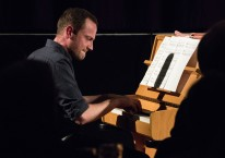Ross Stanley performing at Fleet Jazz Club on 5/12/17. Photograph courtesy of Michael Carrington (Aldershot, Farnham & Fleet Camera Club)