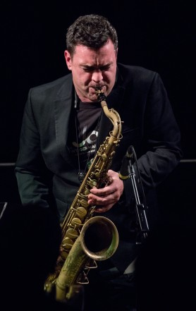 Brandon Allen performing at Fleet Jazz Club on 5/12/17. Photograph courtesy of Michael Carrington (Aldershot, Farnham & Fleet Camera Club)