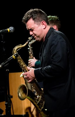 Brandon Allen performing at Fleet Jazz Club on 5/12/17. Photograph courtesy of Michael Carrington (Aldershot, Farnham & Fleet Camera Club)