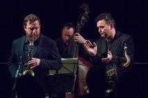 Brandon Allen All-Stars Sextet performing at Fleet Jazz Club on 5/12/17. Photograph courtesy of Michael Carrington (Aldershot, Farnham & Fleet Camera Club)