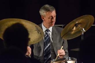 Steve Brown performing in The Scott Hamilton Quartet at Fleet Jazz Club on 16th January 2018. Photograph courtesy of David Fisher from the Aldershot, Farnham & Fleet Camera Club