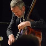 Dave Green performing in The Scott Hamilton Quartet at Fleet Jazz Club on 16th January 2018. Photograph courtesy of David Fisher from the Aldershot, Farnham & Fleet Camera Club