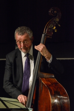 Dave Green performing in The Scott Hamilton Quartet at Fleet Jazz Club on 16th January 2018. Photograph courtesy of David Fisher from the Aldershot, Farnham & Fleet Camera Club