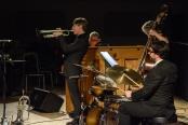The Chris Ingham Quartet performing at Fleet Jazz Club on 20th February 2018. Photograph courtesy of David Fisher from the Aldershot, Farnham & Fleet Camera Club