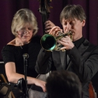 Paul Higgs & Marianne Windham performing at Fleet Jazz Club on 20th February 2018. Photograph courtesy of David Fisher from the Aldershot, Farnham & Fleet Camera Club