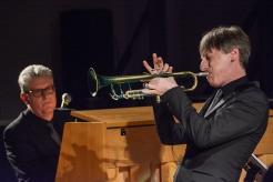 Paul Higgs & Chris Ingham performing at Fleet Jazz Club on 20th February 2018. Photograph courtesy of David Fisher from the Aldershot, Farnham & Fleet Camera Club