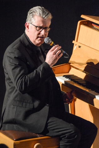 Chris Ingham performing at Fleet Jazz Club on 20th February 2018. Photograph courtesy of David Fisher from the Aldershot, Farnham & Fleet Camera Club
