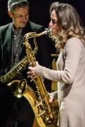 Dave O'Higgins & Judith O'Higgins performing at Fleet Jazz Club on 20th March 2018. Photograph courtesy of David Fisher from the Aldershot, Farnham & Fleet Camera Club