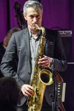 Dave O'Higgins performing at Fleet Jazz Club on 20th March 2018. Photograph courtesy of David Fisher from the Aldershot, Farnham & Fleet Camera Club
