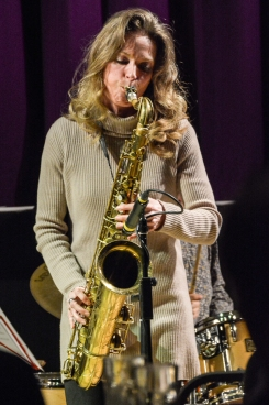 Judith O'Higgins performing at Fleet Jazz Club on 20th March 2018. Photograph courtesy of David Fisher from the Aldershot, Farnham & Fleet Camera Club