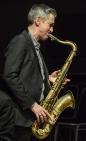 Dave O'Higgins performing at Fleet Jazz Club on 20th March 2018. Photograph courtesy of David Fisher from the Aldershot, Farnham & Fleet Camera Club
