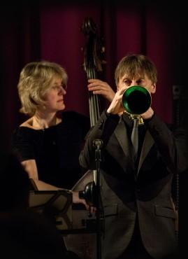 Marianne Windham & Paul Higgs performing at Fleet Jazz Club on 20th February 2018. Photograph courtesy of Michael Carrington from the Aldershot, Farnham & Fleet Camera Club.