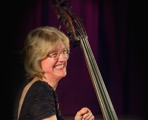 Marianne Windham performing at Fleet Jazz Club on 20th February 2018. Photograph courtesy of Michael Carrington from the Aldershot, Farnham & Fleet Camera Club.