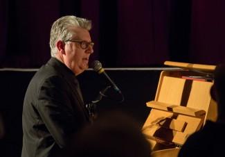Chris Ingham performing at Fleet Jazz Club on 20th February 2018. Photograph courtesy of Michael Carrington from the Aldershot, Farnham & Fleet Camera Club.