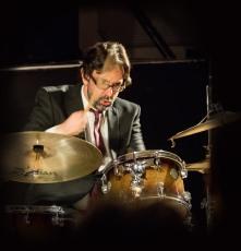 George Double performing at Fleet Jazz Club on 20th February 2018. Photograph courtesy of Michael Carrington from the Aldershot, Farnham & Fleet Camera Club.